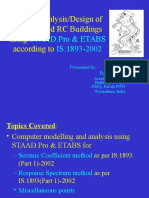 Seismic Design of RCC Buildings