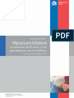 Hipoacusia Bilateral Mayores 65 Años