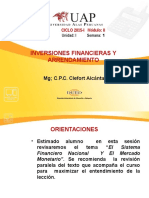 Semana 1-Inversiones Financieras - Sistema Financiero Productos Bancarios