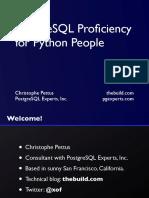 PostgreSQL Proficiency for Python People