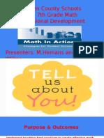 -district math professional development