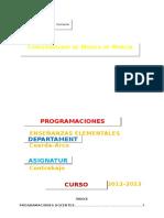 Programacion 2012-2013. EE.ee