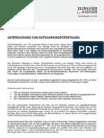 Studie zur Untersuchung von Outsourcingpotentialen