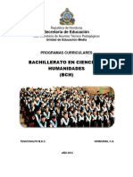 Programas Curriculares, Decimo Grado Honduras