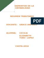 Régimen Tributario Cecilia