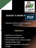 Budget & Work Plan