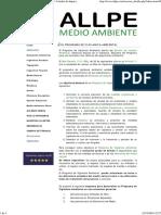 ALLPE Medio Ambiente - Consultoría Ambiental _ Estudio de Impacto Ambiental - EL PROGRAMA de VIGILANCIA AMBIENTAL