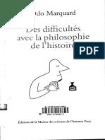Odo Marquard - des difficultés avec de la philosophie de l'histoire