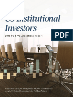 PitchBook US Institutional Investors 2016 PE VC Allocations Report