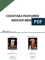Cocktails Featured Indoor Menu