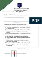 2° PRUEBA DIAGNOSTICO CIENCIAS NATURALES