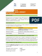 Especificaciones Técnicas New Jersey