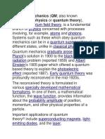 Quantum in Ed