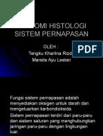 Anatomi Histologi Sistem Pernapasan