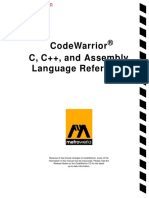 C and C++ and Assembly Language Reference