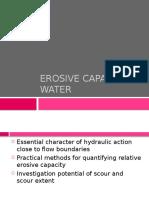 09 - Erosive Capacity of Water