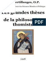 Les Grandes Th Ses de La Philosophie Thomiste (1)
