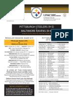 Baltimore Ravens Vs. Pittsburgh Steelers (Dec. 25)