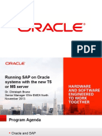 Running SAP on Oracle Systems With the New T5 or M5 Server