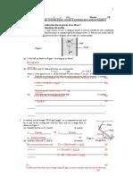 Test 1. Basic Knowledge, Statics, Kinematics and Dynamics