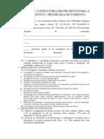 Contrato Consultoria Cultural Leis de Incentivo e Programas de Fomento