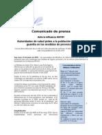 Comunicado de Prensa H1N124junio Final