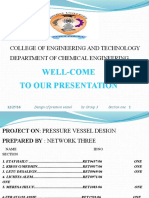 Project on Pressure Vessel Ppt