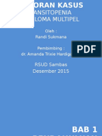 Laporan Kasus - Pansitopenia - Myeloma Multipel - Ready