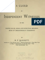 B F Barrett A Cloud of INDEPENDANT WITNESSES The Swedenborg Publishing Association Philadelphia 1891