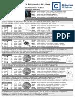 Folheto Calendario Astronomico 20162017