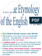 English Lexicology- Etymology of English words