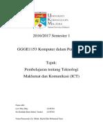 tugasan 3 - pembelajaran tentang teknologi maklumat dan komunikasi  ict