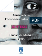 Anuario Convivencia Intercultural.- MADRID, 2006 -Resum