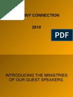 Destiny Connection 2010 Guest Speakers
