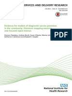 Evidence for Models of Diagnostic Service Provision in the Community- Literature Mapping Exercise and Focused Rapid Reviews