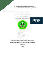 RPP Biologi Kelas X - BAB X - Perubahan Lingkungan