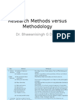 Research Methods Versus Methodology