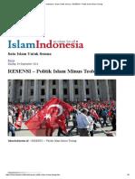 Islam Indonesia – Islam Untuk Semua » RESENSI – Politik Islam Minus Teologi