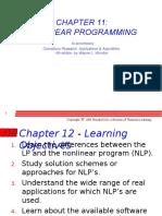 Ch 11 Non Linear Programming