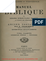 Vigouroux Manuel Biblique Introduction