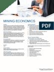 Course Outline Mining Economics