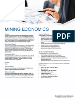 Course Outline Mining Economics