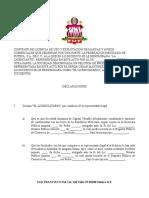 Carta Federacion Mexicana de Futbol Licencia