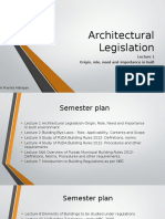 Architectural Legislation LEC !