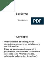 SQL Server - Transacciones