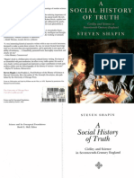 A Social History of Truth. Steven Shapin