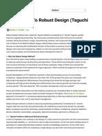Introduction to Robust Design (Taguchi Method)