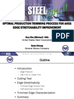 Optimum Trimming Process for AHSS - Edge Stretchability Improvement
