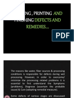 Dyeing- Printing -And- Finishing Defects
