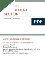 Project Management SectionMOIT